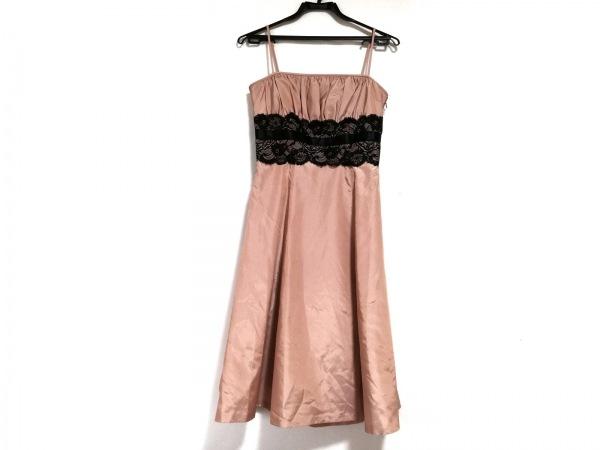 La Defence(ラデファンス) ドレス サイズ9 M レディース美品  ピンク×黒 レース