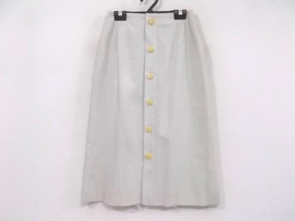 CHANEL(シャネル) ロングスカート サイズ36 S レディース美品  P12655 ライトグレー