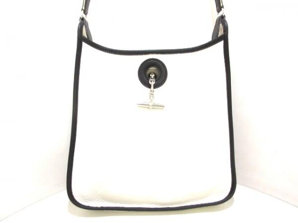 HERMES(エルメス) ショルダーバッグ ヴェスパPM 白×黒 トリヨンクレマンス