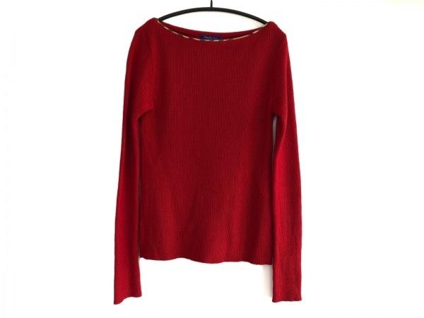 バーバリーブルーレーベル 長袖セーター サイズM レディース美品  レッド