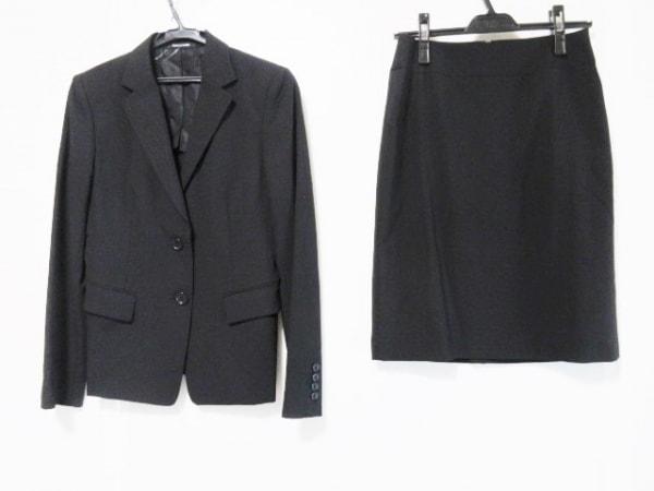 コムサデモード スカートスーツ サイズ11 M レディース 黒 肩パッド
