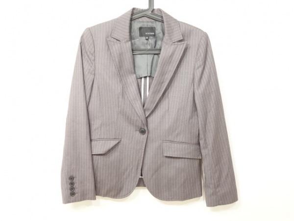ヴァンドゥ オクトーブル ジャケット サイズ38 M レディース美品  グレー×ピンク