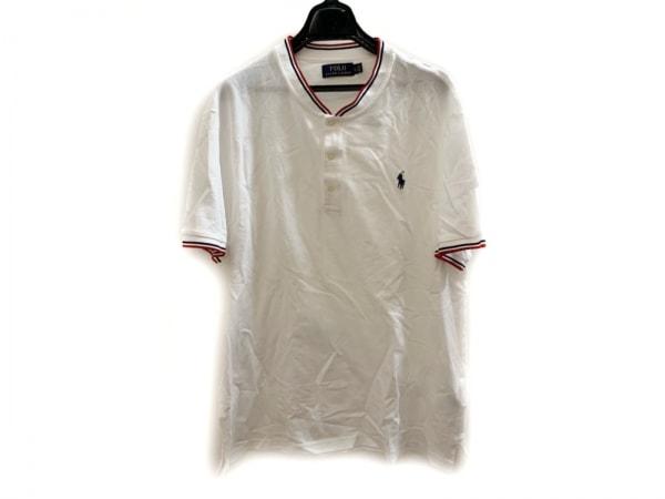 POLObyRalphLauren(ポロラルフローレン) 半袖ポロシャツ サイズXL メンズ美品  白