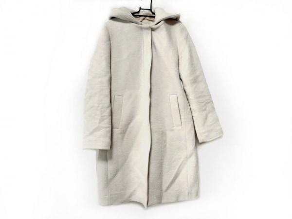 イエナ スローブ コート サイズ38 M レディース ライトグレー 冬物/フード取外し可