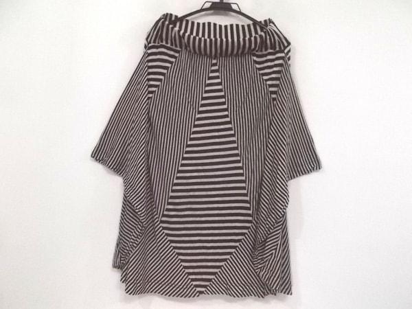 plumpynuts(プランピーナッツ) ポンチョ サイズF レディース 黒×白 春・秋物