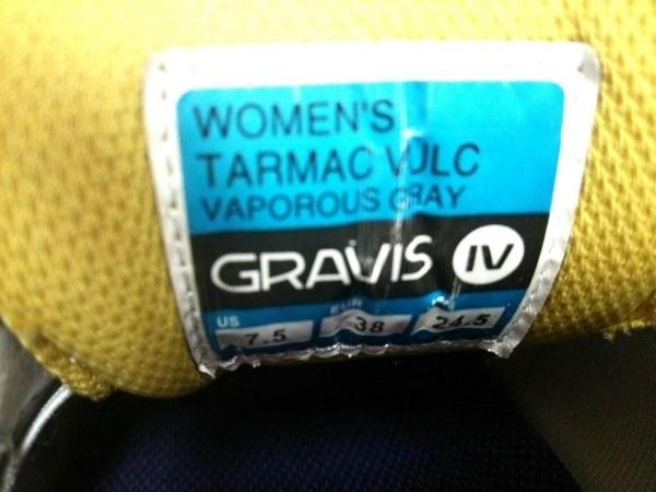 グラヴィス スニーカー 24.5 レディース 白×パープル コットン 5
