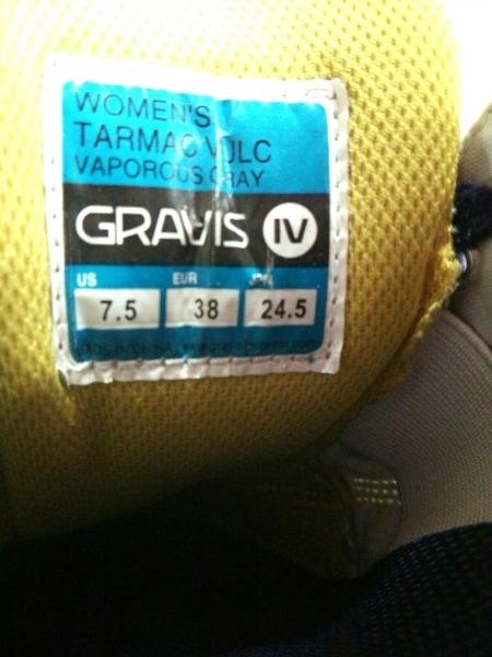 グラヴィス スニーカー 24.5 レディース 白×パープル コットン 6