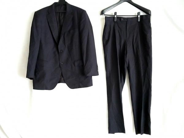 DURBAN(ダーバン) シングルスーツ サイズ96AB5 メンズ ダークネイビー×黒×パープル