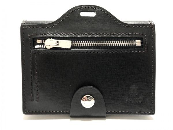 FARO(ファーロ) パスケース美品  黒 コインケース付き レザー