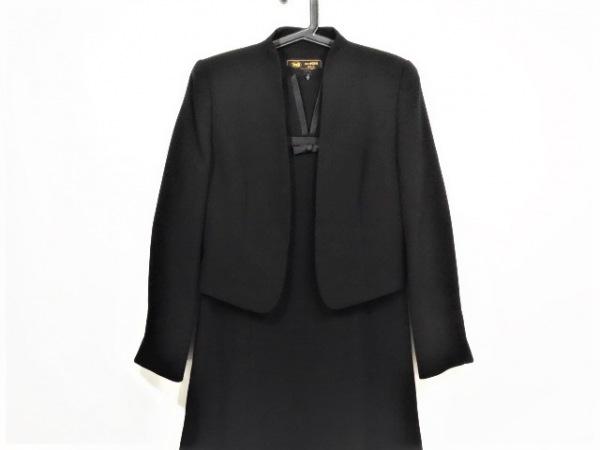 トウキョウイギン ワンピーススーツ サイズ9AR S レディース美品  黒 リボン
