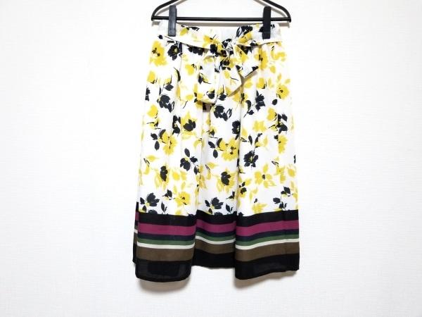 チェリーアン スカート サイズ64-91 レディース美品  白×イエロー×黒 花柄