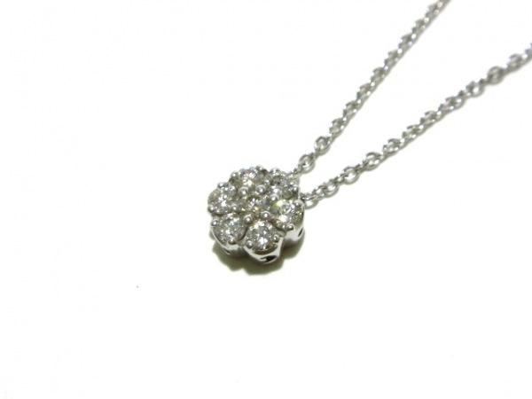 ポンテヴェキオ ネックレス美品  K18WG×ダイヤモンド 7Pダイヤ/0.26カラット