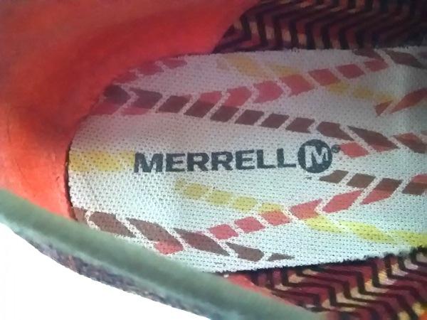 MERRELL(メレル) シューズ レディース ブラウン×レッド×マルチ キャンバス