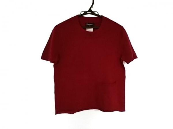 CHANEL(シャネル) 半袖セーター サイズ40 M レディース美品  ボルドー ココマーク
