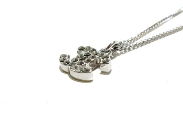 シャネル ネックレス美品  金属素材×ラインストーン シルバー×クリア ココマーク