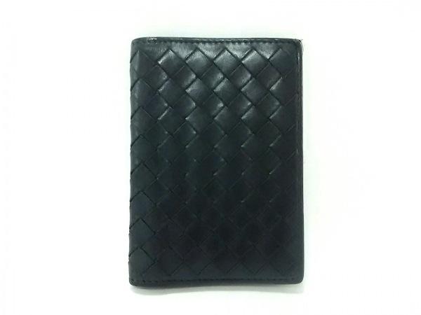 BOTTEGA VENETA(ボッテガヴェネタ) カードケース イントレチャート 120701 黒 レザー