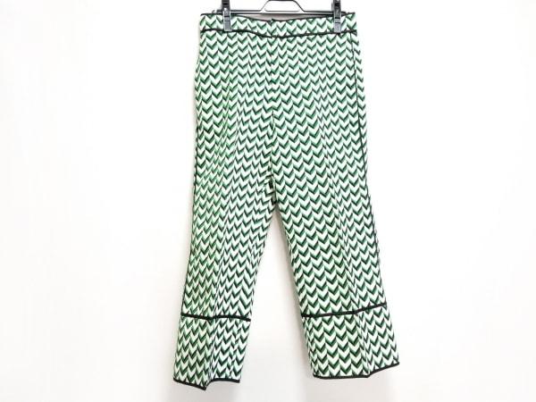 ディースクエアード パンツ サイズ38 S レディース美品  白×グリーン×黒 2016年