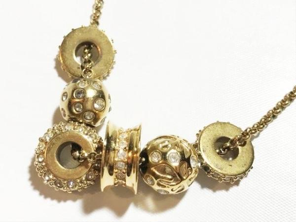 スワロフスキー ネックレス スワロフスキークリスタル×金属素材 クリア×ゴールド