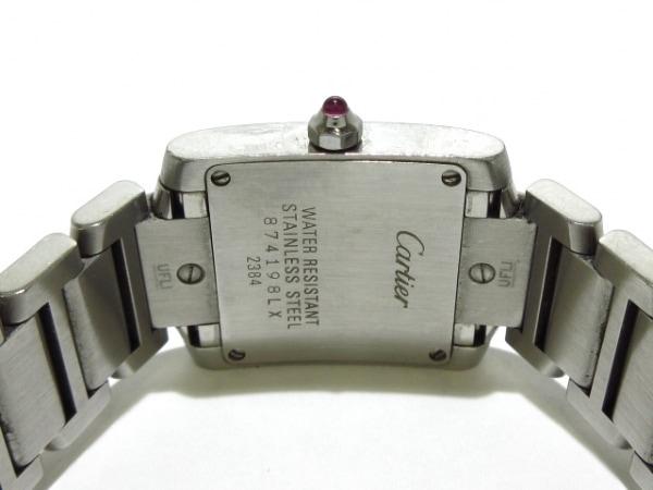 カルティエ 腕時計 タンクフランセーズSM W51028Q3 レディース SS/シェル文字盤