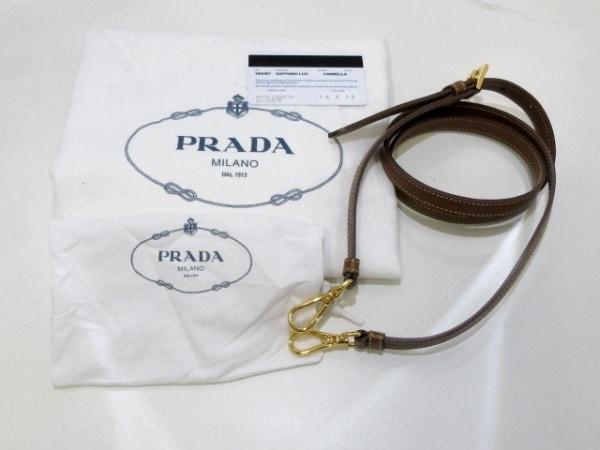 PRADA(プラダ) ハンドバッグ美品  - 1BA567 グレージュ レザー