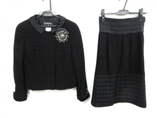 CHANEL(シャネル) スカートスーツ サイズ38 M レディース - P28938/P28923 黒