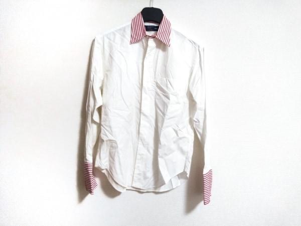 RalphLauren(ラルフローレン) 長袖シャツ サイズ6 メンズ美品  白×レッド ストライプ