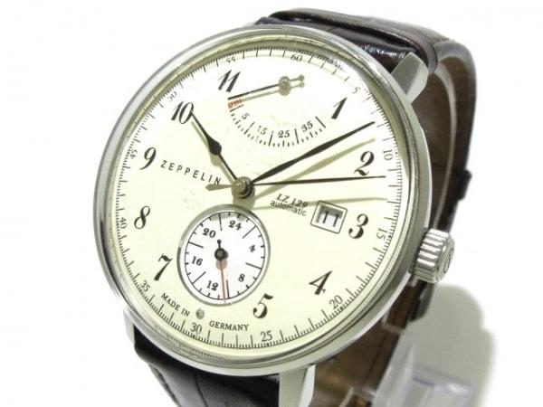 ZEPPELIN(ツェッペリン) 腕時計 LZ129 メンズ 革ベルト/裏スケ アイボリー