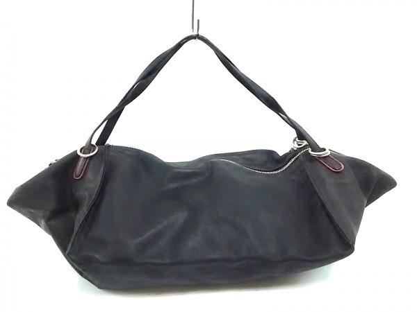 kawa-kawa(カワカワ) ハンドバッグ 黒×レッド レザー