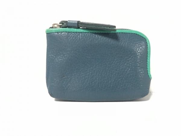 土屋鞄製造所(ツチヤカバンセイゾウショ) コインケース ネイビー×グリーン レザー