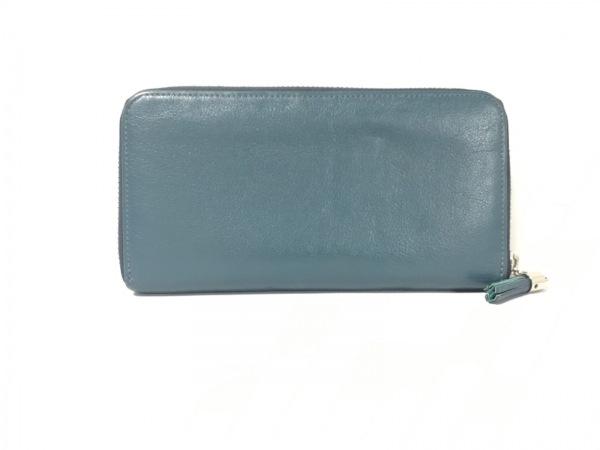 土屋鞄製造所(ツチヤカバンセイゾウショ) 長財布 ネイビー ラウンドファスナー レザー