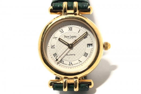 PierreLannier(ピエールラニエ) 腕時計 160 レディース 革ベルト/型押し加工 ベージュ