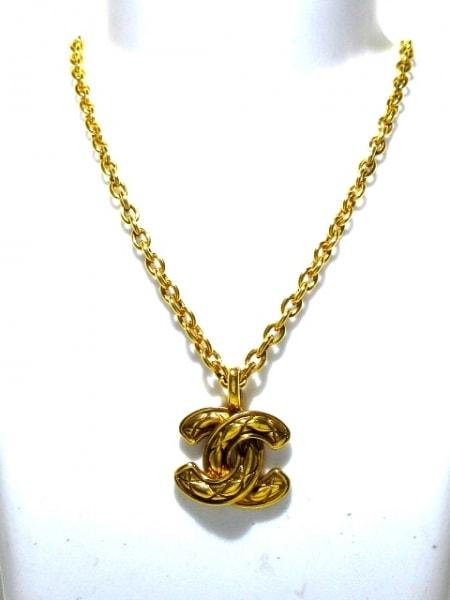CHANEL(シャネル) ネックレス美品  マトラッセ 金属素材 ゴールド ココマーク