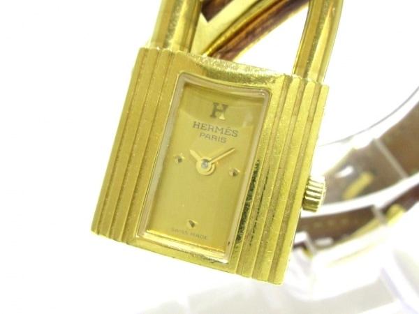 HERMES(エルメス) 腕時計 ケリーウォッチ - レディース 革ベルト/□A ゴールド