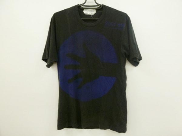 コムデギャルソンシャツ 半袖Tシャツ サイズM メンズ美品  黒×ブルー