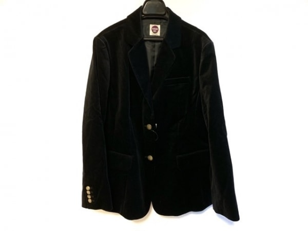 +RICO HIROKOBIS(リコヒロコビス) ジャケット サイズ15ab L レディース 黒 ベロア