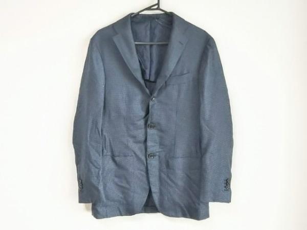 BRILLA(ブリラ) ジャケット サイズ44 L メンズ美品  ネイビー×黒 千鳥格子