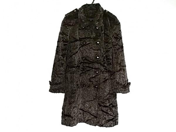 RENA LANGE(レナランゲ) コート サイズ38 M レディース美品  シルバー×黒 冬物