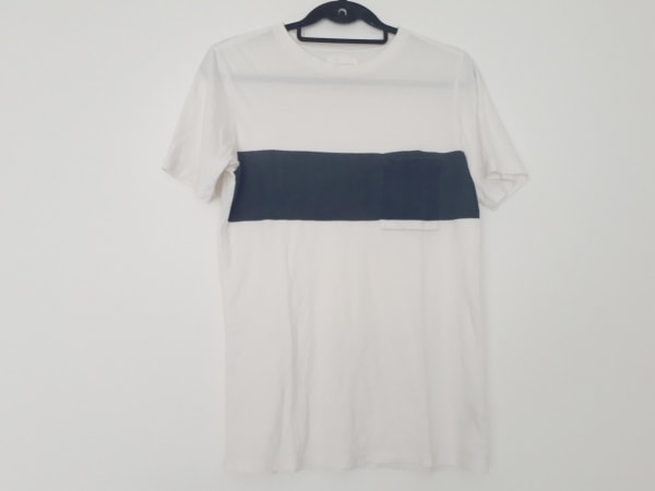 サタデーズ サーフ ニューヨーク 半袖Tシャツ サイズS メンズ アイボリー×ネイビー