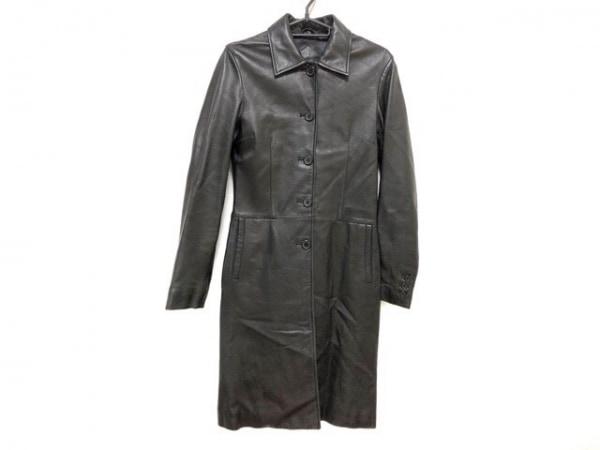 LittleNewYork(リトルニューヨーク) コート サイズ4 XL レディース 黒 レザー/冬物