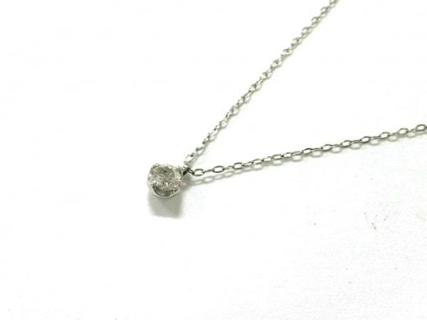 4℃(ヨンドシー) ネックレス美品  K18WG×ダイヤモンド 約0.15カラット/1Pダイヤ