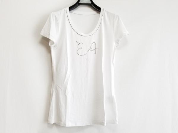 EMPORIOARMANI(エンポリオアルマーニ) 半袖Tシャツ レディース美品  白 ビーズ