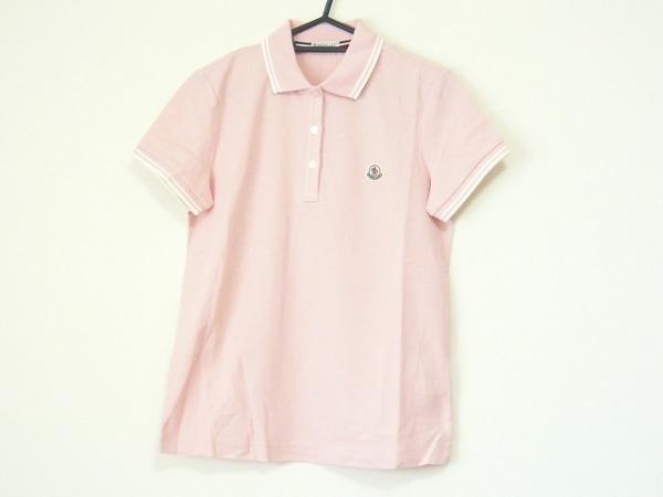 MONCLER(モンクレール) 半袖ポロシャツ サイズS レディース ピンク