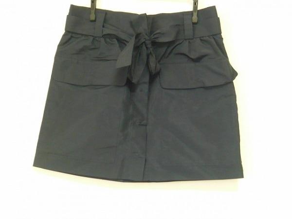 PRADA(プラダ) ミニスカート サイズ36 S レディース美品  ダークネイビー