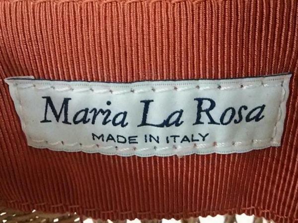 マリア・ラ・ローザ ハンドバッグ新品同様  ライトブラウン かごバッグ ストロー