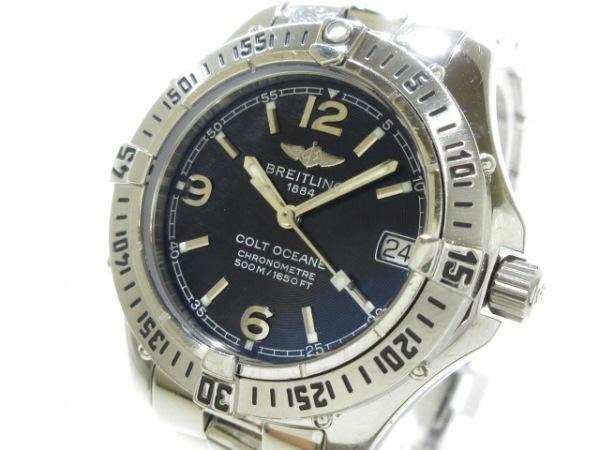 BREITLING(ブライトリング) 腕時計 コルトオーシャンヌ A77350 レディース SS 黒