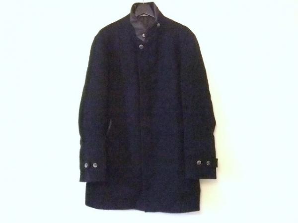 ILFARO(イルファーロ) コート サイズL メンズ ネイビー×ダークブラウン 冬物