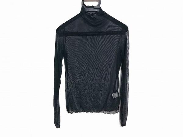 シズカコムロ 長袖カットソー サイズ40 M レディース美品  黒 シースルー