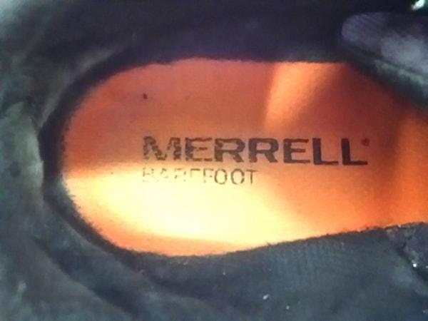 MERRELL(メレル) スニーカー メンズ グレー×白×ダークグレー ナイロン×レザー