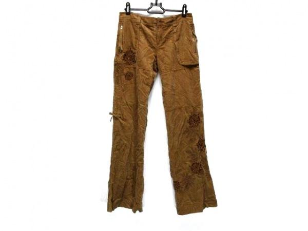 MissMe(ミスミー) パンツ サイズS レディース ダークブラウン ビーズ/刺繍/フラワー