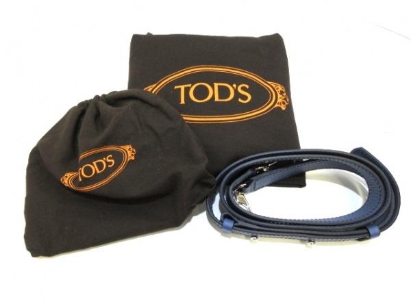 TOD'S(トッズ) ハンドバッグ美品  セラ ネイビー ステッチ レザー
